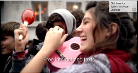 T-Mobile advert screenshot