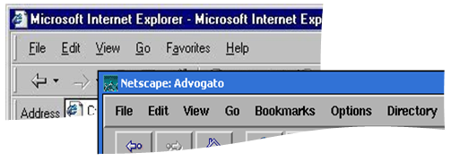 Netscape and IE